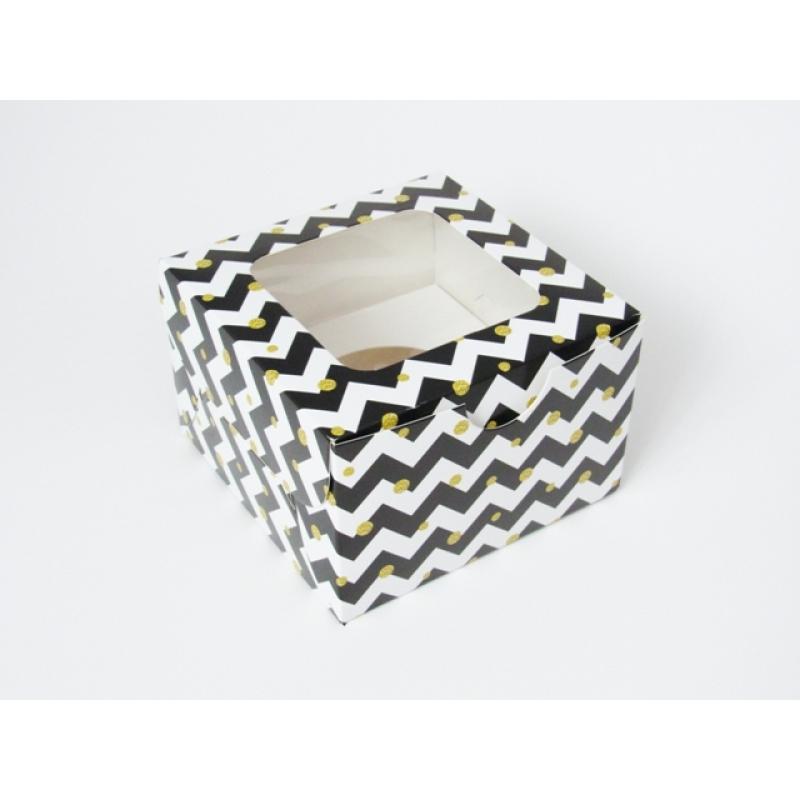 Коробка на 1 кекс с окном