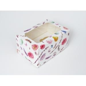 Коробка на 2 кекса с окном