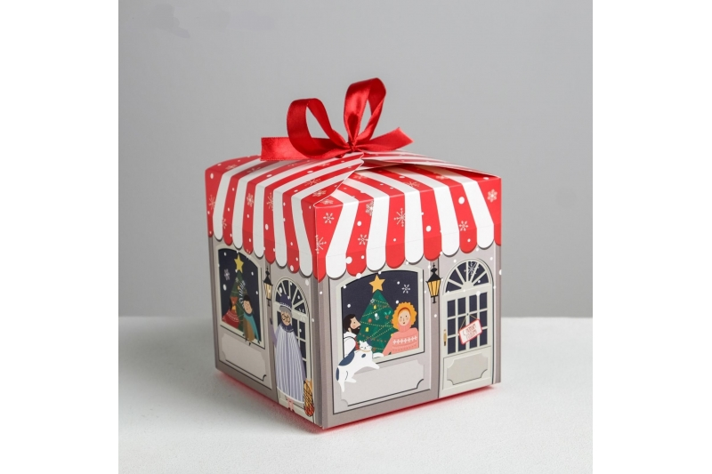 Складная коробка «Волшебного нового года», 12 × 12 × 12 см