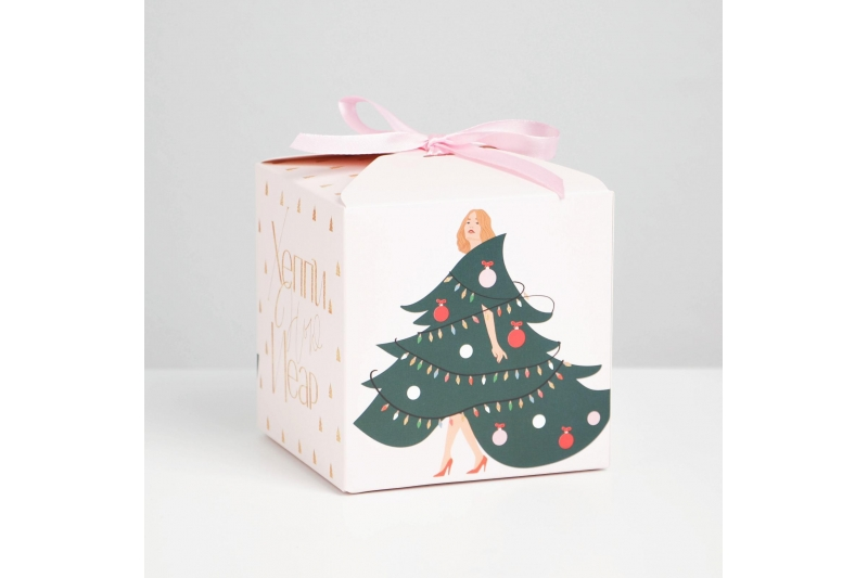 Коробка складная «Новый год», 12 × 12 × 12 см