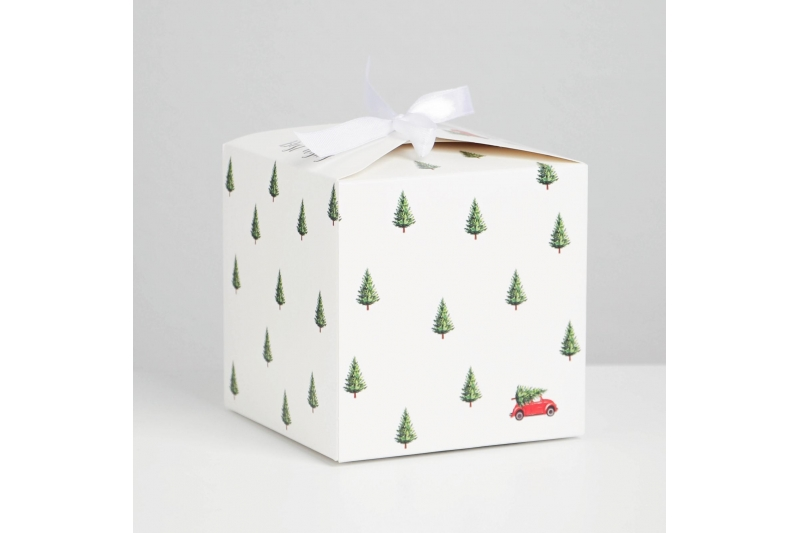 Коробка складная «С новым годом», 12 × 12 × 12 см