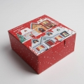 Коробка складная «Зимний город», 15 × 15 × 7 см