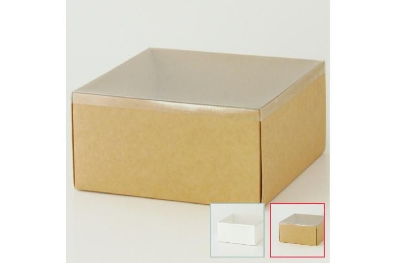 Коробка для подарка с прозрачной крышкой
