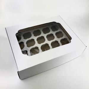 Коробка на 20 кексов с окном с вкладышем