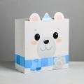 Коробка складная «Медвежонок», 25 х 25 х 10 см