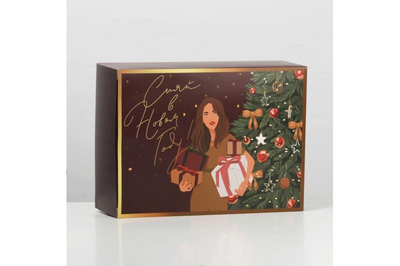 Коробка складная «Новогодняя», 22 × 30 × 10 см
