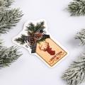 Шильдик на подарок Новый год «Шишка», 6,5 ×8.5 см