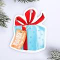 Шильдик на подарок Новый год «Новогодний подарок», 6,5 ×6,3 см