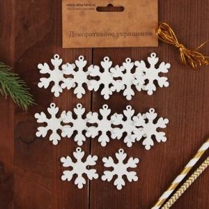 Мини подвеска «Белая снежинка» - 1 шт