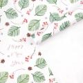 Бумага упаковочная глянцевая «Ветви с шишками», 70 х 100 см