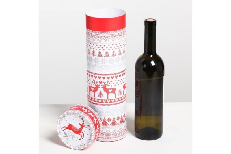 Тубус под бутылку «С Новым Годом!», 10 х 34 см