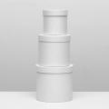Коробка-цилиндр маленькая белая