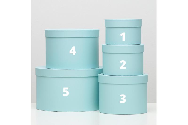 Коробка-цилиндр нежно-голубая №5