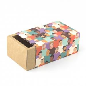 Коробка для подарка с фальшбортом 10,5*18,5*8,5 см