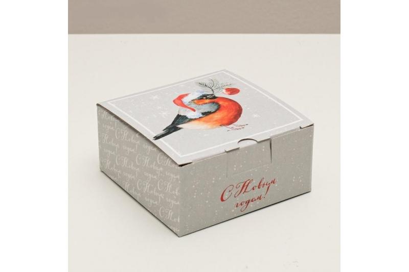 Складная коробка «Уютного Нового года», 15 × 15 × 7 см