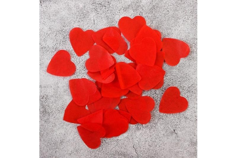 """Конфетти """"Красные сердца""""  (10 г)"""
