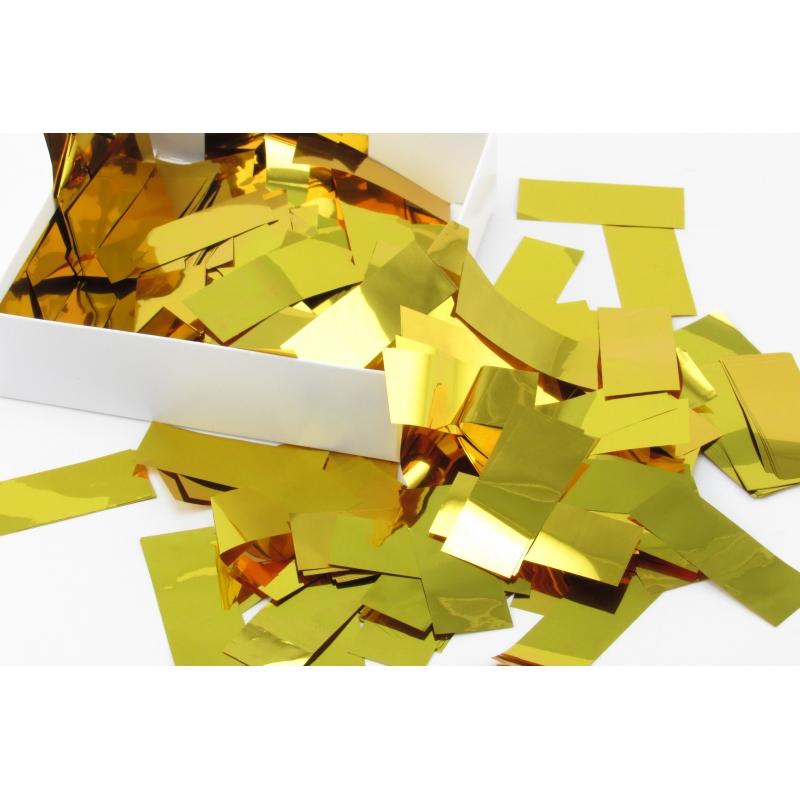 Конфетти прямоугольное золотистое (50 г)