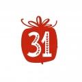 """Наклейка """"31"""" для адвент-календаря"""