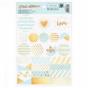 Наклейки бумажные «Мятная любовь», 14 × 21 см