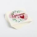 Наклейка для бизнеса «Сделано с любовью», 4 х 4 см- 1 шт