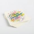 Наклейка для бизнеса «С Днем рождения», 4 х 4 см- 1 шт.