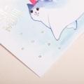 Поздравительная открытка на акварельном картоне с тиснением «Мур‒мяу», 8 × 6 см