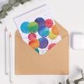 Открытка на акварельном картоне Birthday wishes, 11,8 х 16,4 см