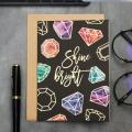Открытка на акварельном картоне Shine bright, 11,8 х 16,4 см