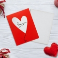 Открытка-мини «Love you», сердечко, 8 х 6см