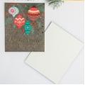 Открытка на акварельном картоне «Счастливого нового года», тиснение, 10.7 × 8.8 см