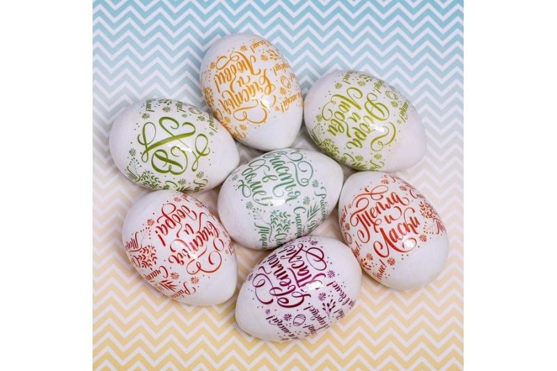 Пасхальная термоусадочная плёнка «Шрифтовые», на 7 яиц