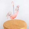 Топпер на торт «Кролики в зонтике»