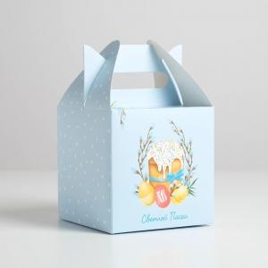 Коробка складная «Светлой Пасхи», 14 × 14 × 14 см