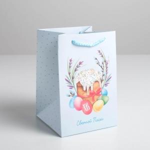 Пакет подарочный «Светлой Пасхи», 12 х 18 х 12 см