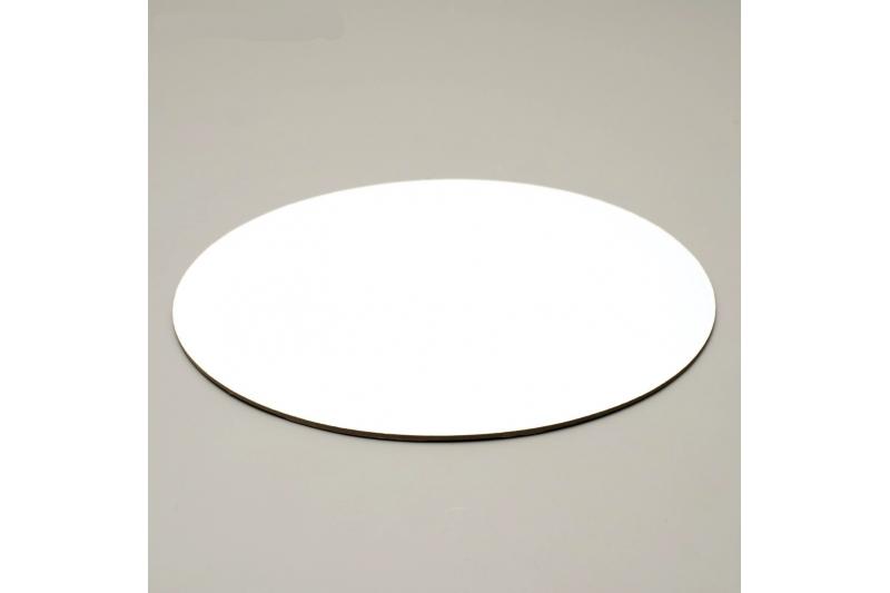 Подложка односторонняя белая d=22 см  (0,8 мм)