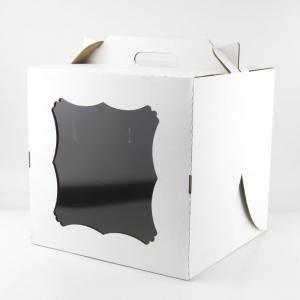 Коробка для торта с окном и ручкой 30*30*30 см