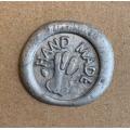 """Сургучная печать """"Hand made"""" (2,5 см) с деревянной ручкой"""