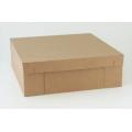 Коробка для флористического венка бурая