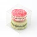 Коробка для макарон маленькая прозрачная 6*6*6 см